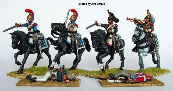 Perry miniaturesの28mm仏軍胸甲騎兵の完成写真