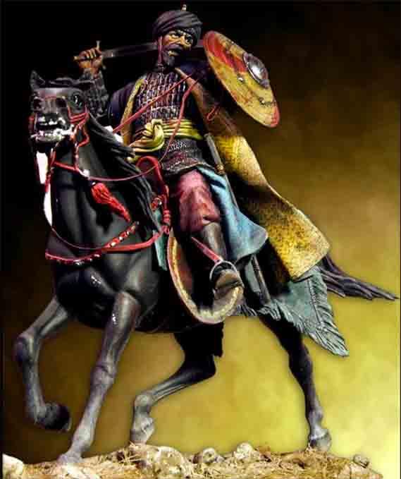 pegaso modelの中世騎兵フィギュアの写真