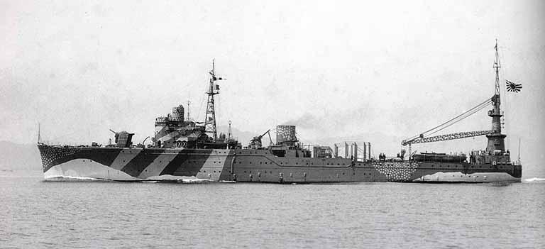 大日本海軍連合艦隊の水上機母艦秋津洲の写真
