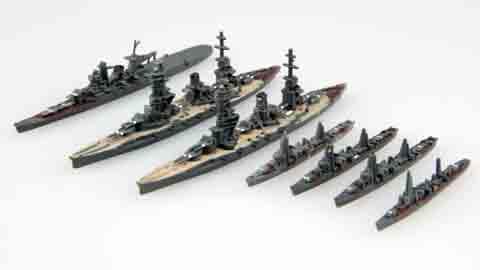 1/3000の集める軍艦シリーズの西村艦隊