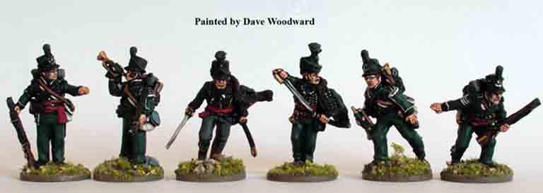 perry miniatureの95ライフル連隊士官セット